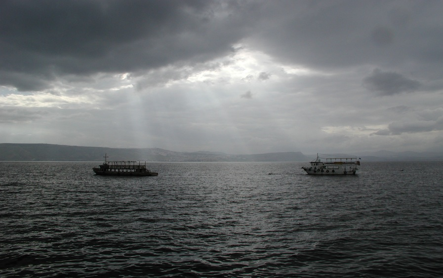 Lake Kinneret in a storm